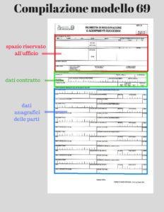 Mini guida alla compilazione del modello 69 per la - Contratto preliminare esempio ...